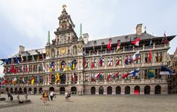 Τετράγωνο Cental Antwerpen, Βέλγιο Στοκ φωτογραφίες με δικαίωμα ελεύθερης χρήσης