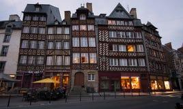 Τετράγωνο champ-Jacquet το βράδυ σε Rennes, Γαλλία Στοκ εικόνα με δικαίωμα ελεύθερης χρήσης