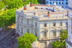Τετράγωνο Cibeles Plaza Cibeles και άποψη στο σπίτι της Αμερικής Στοκ Φωτογραφία