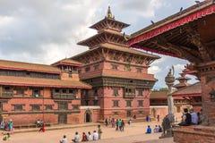 Τετράγωνο durbar σε Patan, αρχαία πόλη στην κοιλάδα του Κατμαντού Στοκ Φωτογραφίες