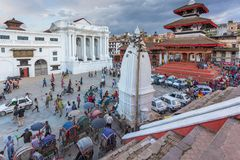 Τετράγωνο durbar σε Patan, αρχαία πόλη στην κοιλάδα του Κατμαντού Στοκ Εικόνα