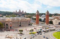 Τετράγωνο Espanya στη Βαρκελώνη Στοκ εικόνες με δικαίωμα ελεύθερης χρήσης
