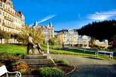 Τετράγωνο Goethe - Marianske Lazne - Δημοκρατία της Τσεχίας Στοκ Εικόνες