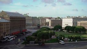 Τετράγωνο Isaacs στην Άγιος-Πετρούπολη απόθεμα βίντεο