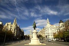 Τετράγωνο Liberdade στο Πόρτο, Πορτογαλία Στοκ φωτογραφία με δικαίωμα ελεύθερης χρήσης