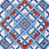 Τετράγωνο, mandala, συρμένο χέρι διανυσματικό σχέδιο ν Στοκ Φωτογραφία