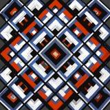 Τετράγωνο, mandala, συρμένο χέρι διανυσματικό σχέδιο ν Στοκ Φωτογραφίες