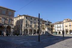 Τετράγωνο Mazzini σε Casale Monferrato, Piedmont στοκ εικόνες