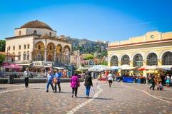 τετράγωνο monastiraki της Αθήνας Ε&l Στοκ Φωτογραφίες
