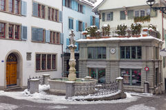 Τετράγωνο Napf στην παλαιά πόλη της Ζυρίχης, Ελβετία Στοκ φωτογραφίες με δικαίωμα ελεύθερης χρήσης