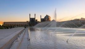 Τετράγωνο naqsh-ε Jahan και το μουσουλμανικό τέμενος Jameh του Ισφαχάν στοκ εικόνα
