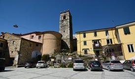 Τετράγωνο Palestro Colonnata όρη apuan Τοσκάνη Ιταλία Στοκ εικόνα με δικαίωμα ελεύθερης χρήσης