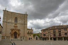 Τετράγωνο Penaranda de Duero στην επαρχία του Burgos, Ισπανία στοκ φωτογραφίες με δικαίωμα ελεύθερης χρήσης