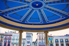 Τετράγωνο plaza του Παμπλόνα Navarra Ισπανία del Castillo Στοκ εικόνα με δικαίωμα ελεύθερης χρήσης