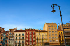 Τετράγωνο plaza του Παμπλόνα Navarra Ισπανία del Castillo Στοκ Εικόνες