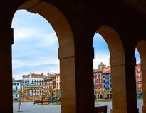 Τετράγωνο plaza του Παμπλόνα Navarra Ισπανία del Castillo Στοκ Φωτογραφία