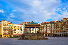 Τετράγωνο plaza του Παμπλόνα Navarra Ισπανία del Castillo Στοκ φωτογραφίες με δικαίωμα ελεύθερης χρήσης