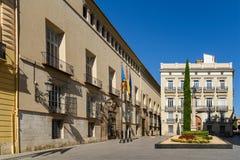 Τετράγωνο Plaza de Manises Manises στη στο κέντρο της πόλης πόλη της Βαλένθια στην Ισπανία Στοκ φωτογραφία με δικαίωμα ελεύθερης χρήσης