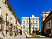 Τετράγωνο Plaza de Manises Manises στη στο κέντρο της πόλης πόλη της Βαλένθια στην Ισπανία Στοκ Εικόνα
