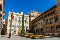 Τετράγωνο Plaza de Manises Manises στη στο κέντρο της πόλης πόλη της Βαλένθια στην Ισπανία Στοκ Φωτογραφία