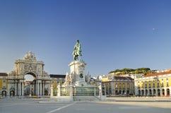 τετράγωνο praca της Λισσαβώνας Πορτογαλία comercio Στοκ φωτογραφίες με δικαίωμα ελεύθερης χρήσης