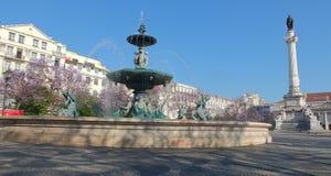Τετράγωνο Rossio, Λισσαβώνα Στοκ Εικόνες