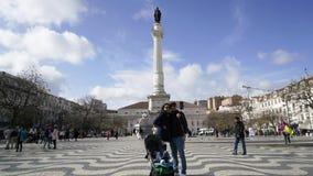 Τετράγωνο Rossio στη Λισσαβώνα απόθεμα βίντεο