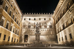 Τετράγωνο Salimbeni, Σιένα, Τοσκάνη, Ιταλία στοκ φωτογραφία