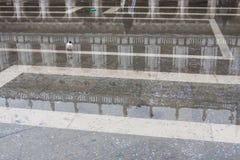 Τετράγωνο SAN Marco κατά τη διάρκεια Aqua Alta, Βενετία, Ιταλία Στοκ Φωτογραφίες