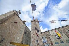 Τετράγωνο SAN Mateo στο παλαιό τέταρτο Caceres, Ισπανία στοκ φωτογραφία με δικαίωμα ελεύθερης χρήσης