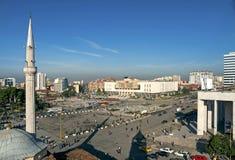 Τετράγωνο Skanderberg στα Τίρανα Αλβανία στοκ φωτογραφία