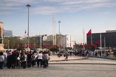 Τετράγωνο Taksim στη Ιστανμπούλ, Τουρκία Στοκ Εικόνες
