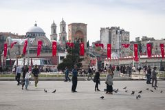 Τετράγωνο Taksim στη Ιστανμπούλ, Τουρκία Στοκ εικόνα με δικαίωμα ελεύθερης χρήσης