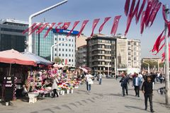 Τετράγωνο Taksim στη Ιστανμπούλ, Τουρκία Στοκ Φωτογραφίες
