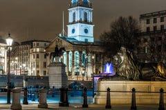 Τετράγωνο Trafalgar στο χρόνο Χριστουγέννων, Λονδίνο Στοκ Εικόνα