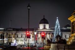 Τετράγωνο Trafalgar στο χρόνο Χριστουγέννων, Λονδίνο Στοκ εικόνες με δικαίωμα ελεύθερης χρήσης