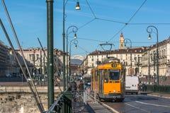 Τετράγωνο Vittorio στο Τορίνο, Ιταλία Στοκ Φωτογραφίες