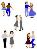 Τετραγωνικά ζεύγη χορού απεικόνιση αποθεμάτων
