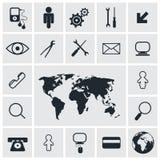Τετραγωνικά διανυσματικά εικονίδια καθορισμένα Στοκ εικόνες με δικαίωμα ελεύθερης χρήσης