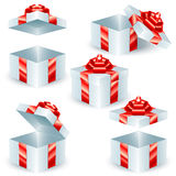Τετραγωνικά κιβώτια δώρων διανυσματική απεικόνιση