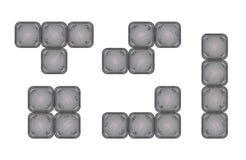 Τετραγωνικά κομμάτια τούβλου για το σχέδιο παιχνιδιών Στοκ εικόνα με δικαίωμα ελεύθερης χρήσης