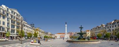 Τετραγωνικά DOM Pedro IV της Λισσαβώνας Rossio Στοκ φωτογραφία με δικαίωμα ελεύθερης χρήσης