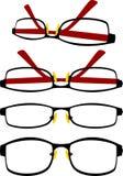 Τετραγωνικά Eyeglasses Στοκ Εικόνες