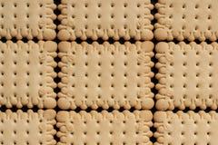 Τετραγωνικές κροτίδες μπισκότων Στοκ εικόνα με δικαίωμα ελεύθερης χρήσης
