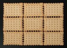Τετραγωνικές κροτίδες μπισκότων Στοκ εικόνες με δικαίωμα ελεύθερης χρήσης
