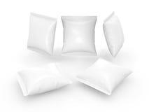 Τετραγωνική άσπρη σακούλα με το ψαλίδισμα της πορείας Στοκ Εικόνα