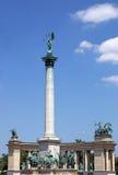 Τετραγωνική Βουδαπέστη Ουγγαρία ηρώων Στοκ φωτογραφία με δικαίωμα ελεύθερης χρήσης