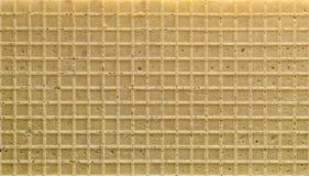 τετραγωνική γκοφρέτα σύστασης προτύπων ανασκόπησης Στοκ Εικόνα