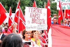 Τετραγωνική διαμαρτυρία ένωσης - Τουρκία Στοκ Εικόνες