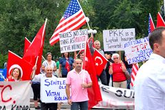Τετραγωνική διαμαρτυρία ένωσης - Τουρκία Στοκ Εικόνα